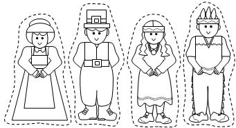 pilgrim and indian coloring pages | 10 Turkey-Free Thanksgiving Crafts for Kids